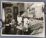 Vintage photograph Hornungs White Bock bar stand