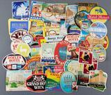 Group of 48 vintage hotel labels