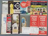 Group of vintage railroad time tables and more