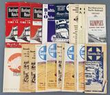 Group of vintage railroad time tables