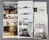 Group of railroad photographs and paperwork