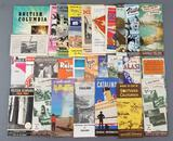 Group of vintage travel maps, brochures and more