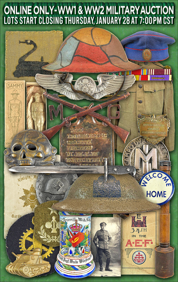 ONLINE ONLY - WW1 and WW2 Military Auction