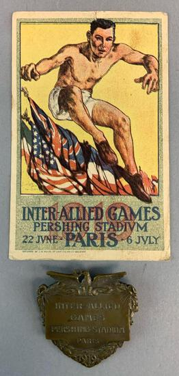 Rare Items from the Inter Allied Games of 1919