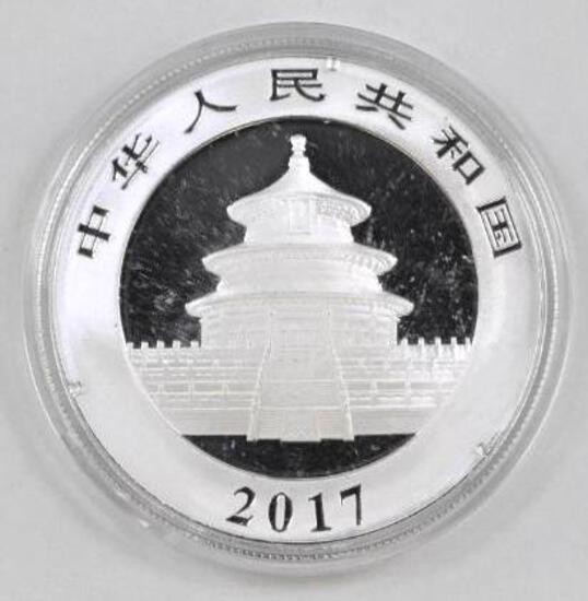 2017 China 1oz. .999 Fine Silver Panda Round