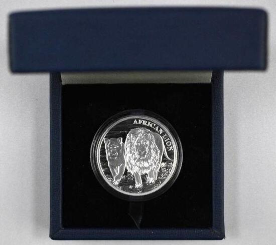 2016 Congo 5000 Francs 1oz. .999 Fine Silver African Lion Round