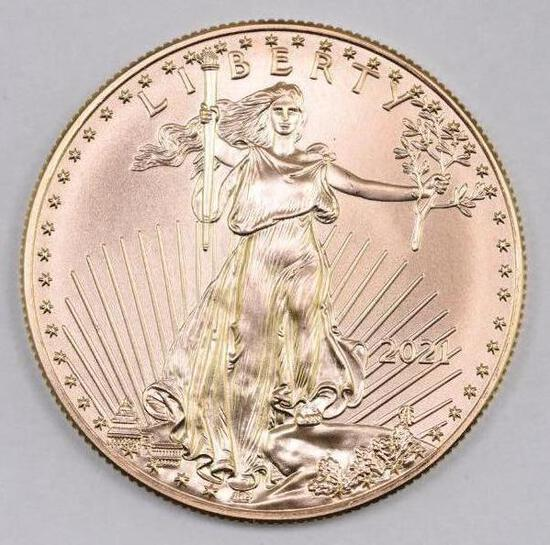 2021 $50 American Gold Eagle 1oz. BU
