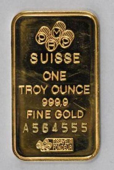 PAMP Credit Suisse 1oz. .9999 Fine Gold Ingot / Bar