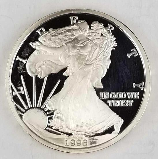 1996 Silver Eagle 1 Troy Pound .999 fine Silver Round