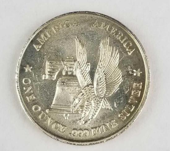 America The International Silver Trade Unit .999 Fine Silver Round 1 Oz