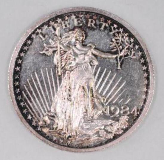 1984 Silver Trade Unit .500oz. .999 Fine Silver Round