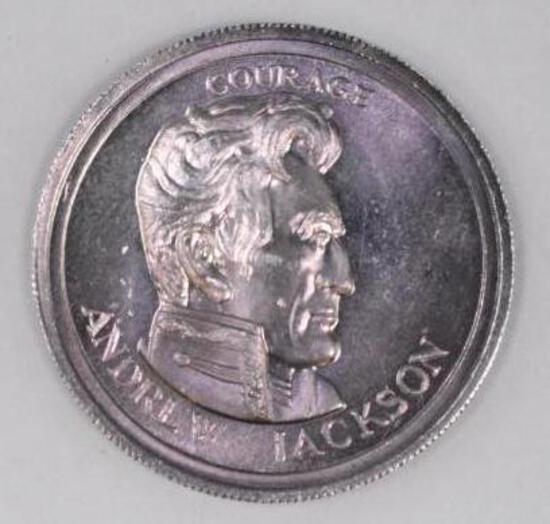 1976 Liberty Lobby Andrew Jackson .500oz. .999 Fine Silver Round