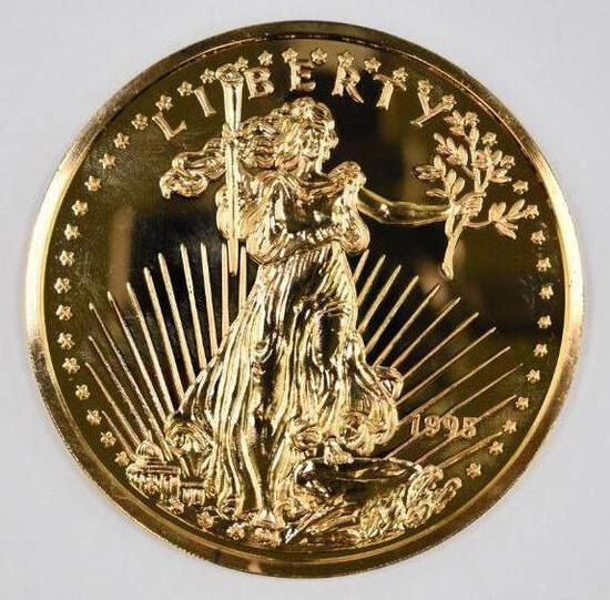 Washington Mint 1995 Saint Gaudens 8oz. .999 Fine Silver Round
