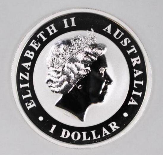 2017 Australia Kookaburra 1oz. .999 Fine Silver Round