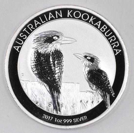 2017 Australia Kookaburra 1oz. .999 Fine Silver