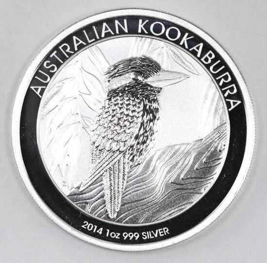 2014 Australia Kookaburra 1oz. .999 Fine Silver