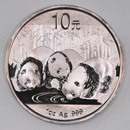 2013 China 10 Yuan Panda 1oz. .999 Fine Silver
