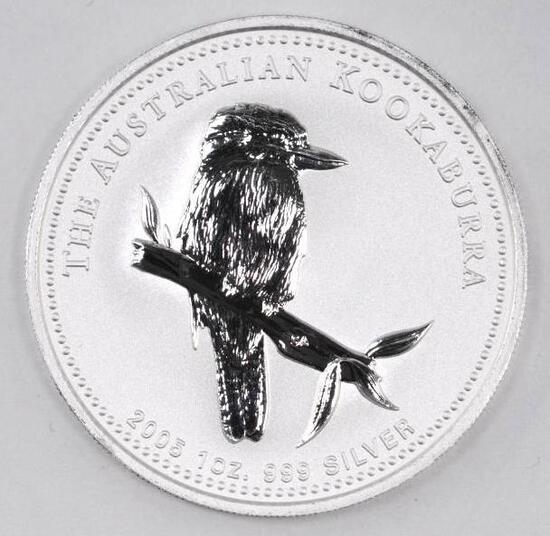 2005 Australia Kookaburra 1oz. .999 Fine Silver