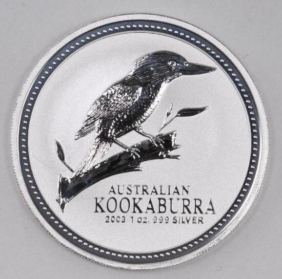 2003 Australia Kookaburra 1oz. .999 Fine Silver