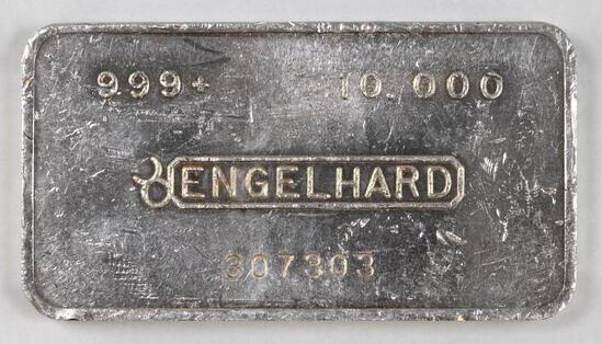 Engelhard Bullseye 10oz. .999 Fine Silver Ingot/Bar