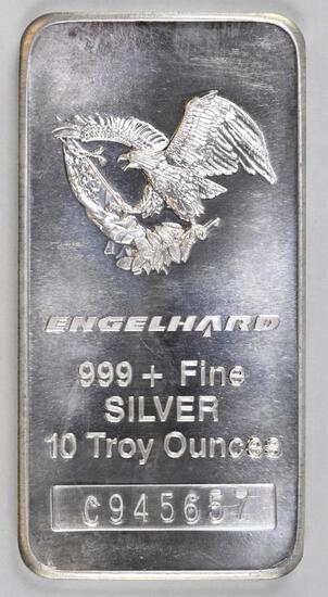 Engelhard 10oz. .999 Fine Silver Ingot/Bar