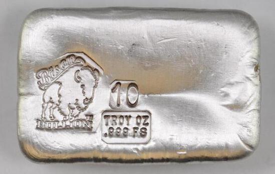 Bison Bullion 10oz. .999 Fine Silver