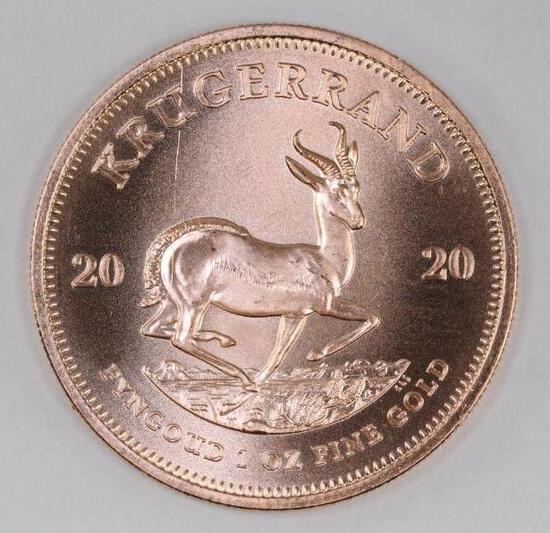 2020 South Africa Krugerrand 1oz. .999 Fine Gold