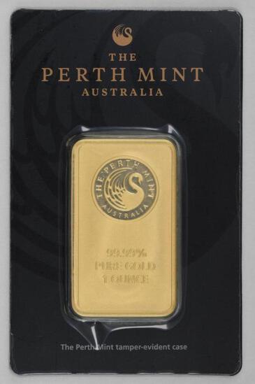 The Perth Mint 1oz. .9999 Fine Gold Ingot/Bar