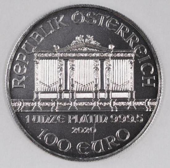 2020 Austria Philharmonic 1oz. .9995 Fine Platinum