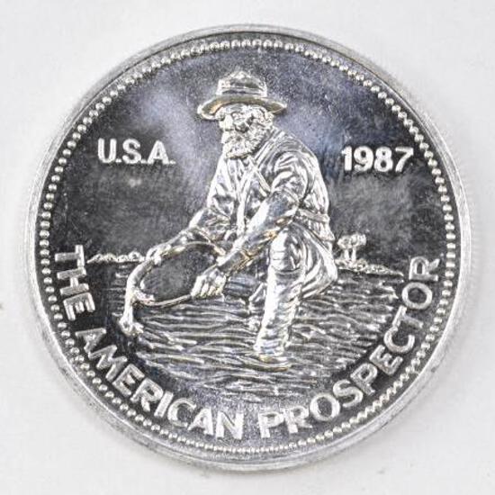 1987 Engelhard Prospector 1oz. .999 Fine Silver