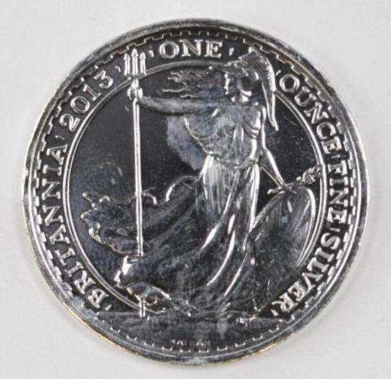 2013 Great Britain Britannia 1oz. .999 Fine Silver