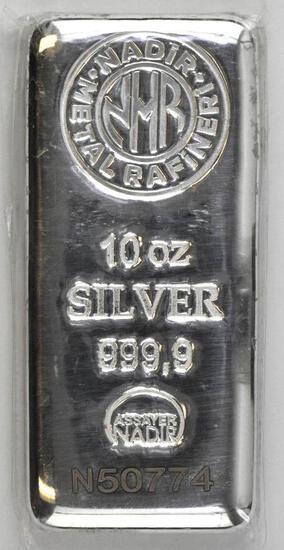 Nadir Metal Rafineri 10oz. .9999 Fine Silver Ingot/Bar