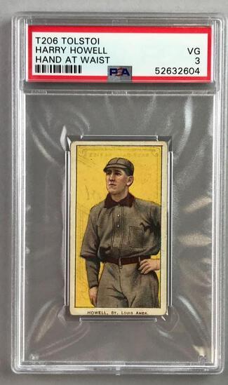 T206 Tolstoi Assorted Subjects Baseball Series, Harry Howell PSA 3