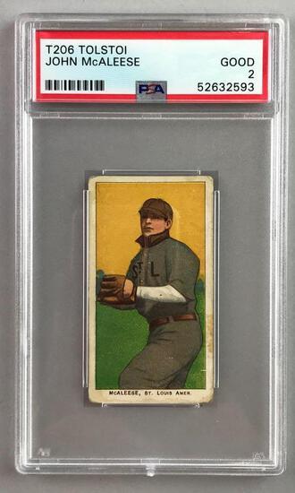 T206 Tolstoi Assorted Subjects Baseball Series, John McAleese PSA 2