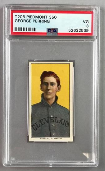 T206 Piedmont 350 Subjects Baseball Series, George Perring PSA 3
