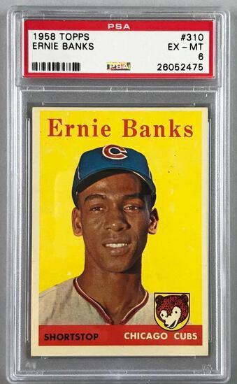 1958 Topps Baseball Ernie Banks Card PSA 6