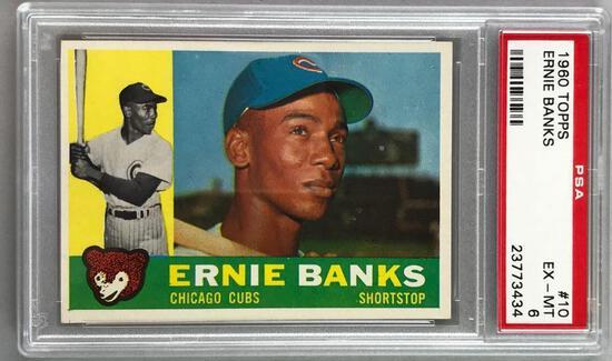 1960 Topps Baseball Ernie Banks Card PSA 6