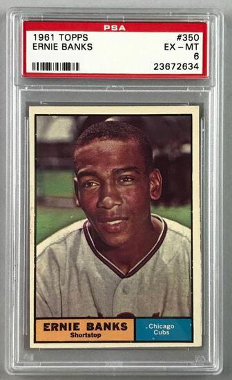 1961 Topps Baseball Ernie Banks Card PSA 6