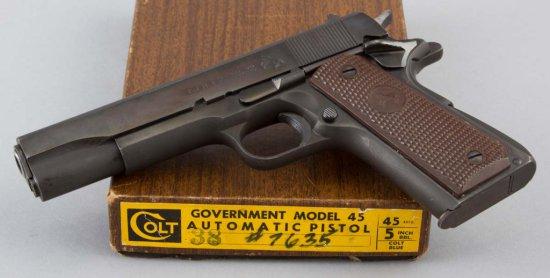 Pre-War Colt, Government Model, Semi-Auto Pistol