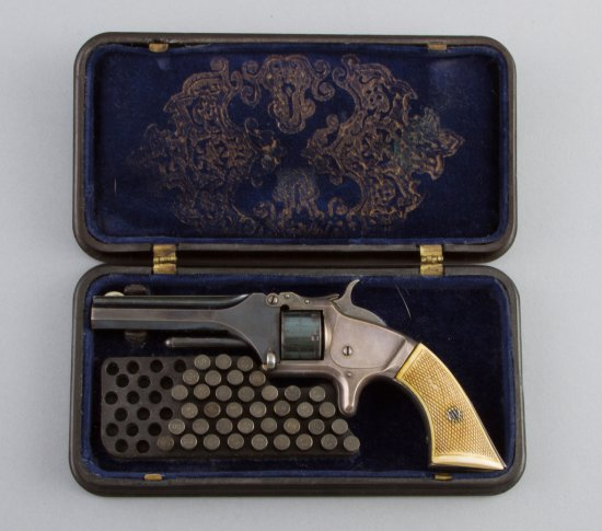 Fine antique, cased Smith & Wesson, Model No.1, First Issue Revolver, 22 SHORT cal., SN. 16745, manu