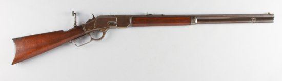 "High condition Winchester, Model 1873, Lever Action Rifle, 44 caliber, 24"" octagon barrel, SN 155413"