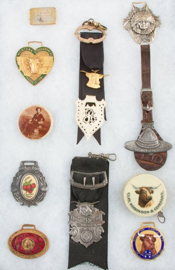 Collection of 10 vintage items from the George Jackson Collection, which include:  Eight unusual adv