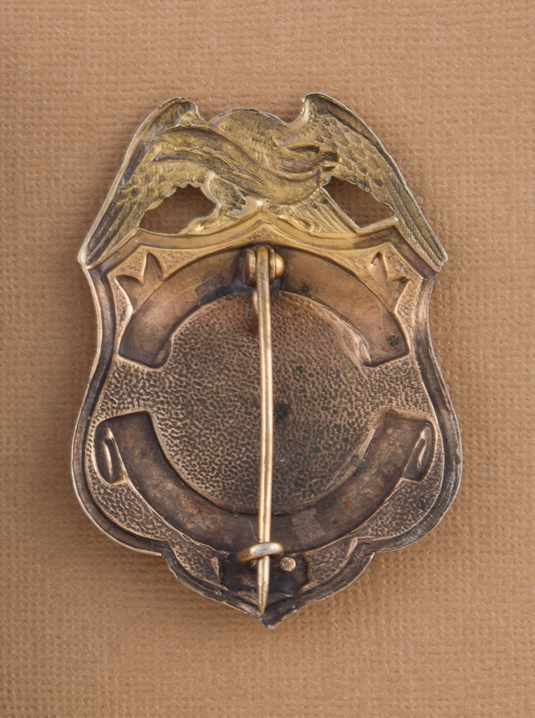 Lot: Scarce shield Badge with eagle crest,