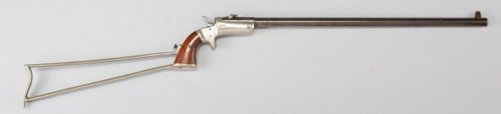 "Antique Stevens, New Model Pocket Rifle, .32 Rim Fire caliber, 18"" part round -part octagon barrel,"
