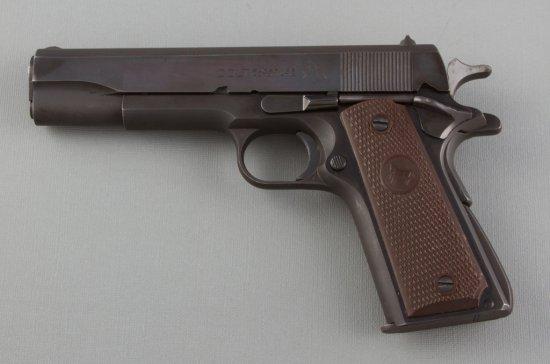 "Colt, Government Model Super .38 Semi-Automatic Pistol, .38 Super Caliber, SN 114778, 5"" barrel, blu"