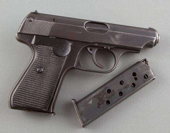 "J.P. Sauer & Sohn, Suhl, Model 38H, Semi-Automatic Pistol, 7.65 Caliber, SN 346225, 3 1/2"" barrel, b"