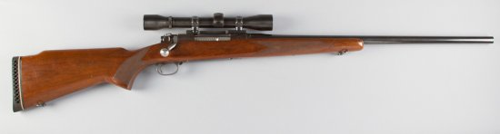 "Winchester, Model 70, Bolt Action Rifle, Ackley .375 H & H Caliber, SN 168821, custom 24"" barrel, bl"
