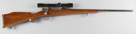 "Oberndorf, Mauser, Bolt Action Rifle, .22-250 Caliber, SN 3655, 24 1/2"" barrel, walnut stock with Mo"