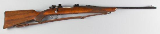 "Husqvarna, Bolt Action Rifle, .30-26 Caliber, SN 127367, 24"" barrel, blue finish, checkered stock wi"