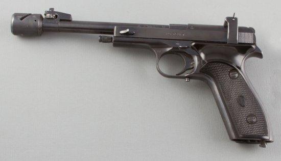 "Cased Margolin, Tonsper Target Pistol, .22 LR Caliber, SN P6364T, 7 1/2"" barrel with muzzle brake, o"